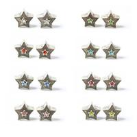 encanto de la estrella de colores al por mayor-Colorido Crystal Stars Alloy Charm Bead Moda Mujer Joyería Diseño impresionante Estilo europeo para DIY Pulsera