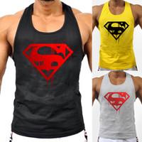 camisas con estampado muscular al por mayor-Marca para hombre Bodybuilding Tank Top de verano sin mangas impresión 3d Fitness Singlets Muscle Shirt gimnasios chaleco