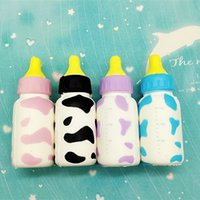 Wholesale Baby Bottle Charms - 10cm Cell Phone Key Charm Simulation Baby Feeding Milk Bottle Jumbo Squishy Vent Decompression Slow Rising Squishies Creative 3 5rd B