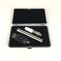fermuarlı şarj cihazı toptan satış-510 özü yağı vape kalem hiçbir yağ sızıntısı Çok renkli USB şarj ile tek kullanımlık yağ kalem 350 mah pil deri f ...
