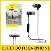 Wholesale sweat proof bluetooth earbuds for sale - Group buy M90 magnetic Bluetooth Headphone Sports Sweat Proof Noise Canceling Earbuds with Metallic Housing Built in Mic M90 Magnetic Headset