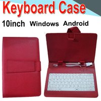 Wholesale waterproof keyboard case for sale - Wire Keyboard Case inch Cover for Android Windows Ultra Thin Wireless Color ABS Keyboard PU Case Universal Mobile Phone XPT