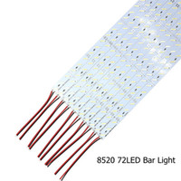 barra de luz rígida led fresca al por mayor-Edison2011 Rigid Strip 100CM 72 Leds IP20 12V SMD 8520 Cool White Led Bar Light Aluminio rígido Led Strip Light para gabinete