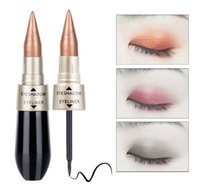 Wholesale 2in1 eyeliner - Double End Eyeshadow & Eyeliner Pencil 2in1 Highlighter Makeup Coutour Pencil Two Brushstrokes