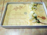 caixas transparentes venda por atacado-Cartão do menu, acrílico claro personalizado de alta qualidade gravado cartões do menu do casamento com envelope livre, caixa e flor não incluídos (165mmx114mmx2mm)