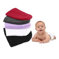 Wholesale purple newborn hat for sale - Group buy Infant Soft Cute Hats Kids Baby Colorful Cotton Hats Kids Autumn Winter Newborn Hat Boys Girls Cute Warm Cap