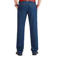 baggy baumwollhose für männer groihandel-Leichte Baumwolle Frühling Sommer Herren Jeans Leichte klassische Jeanshose Herren Washed Baggy Blue Designer Causal Jeans Man