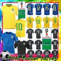 Wholesale gold women shirts - Men Women home 10 11 COUTINHO 3 T.SILVA 4 DAVID LUIZ Soccer jersey 9 G.JESUS 15 PAULINHO 21 FIRMINO MARCELO uniforms shirt