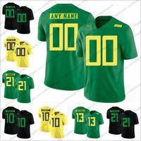 neue fußball-trikots großhandel-Benutzerdefinierte Oregon Ducks 2018 New Style # 21 Royce Freeman 10 Justin Herbert 13 Dillon Mitchell Jeder Name Anzahl College Football Trikots S-3XL