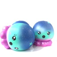 Wholesale plastic octopus toy - Simulation Animal Squishy Slowly Rising Squeeze Toy Cute Starry Sky Octopus Squishies Decompression Toys New 15ge W