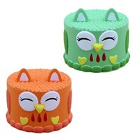 детские игрушки для детей оптовых-Squishies Сова торт медленный рост Каваи симпатичные Сова торт сливочный аромат для детей Игрушки для вечеринок снятие стресса игрушка новинки GGA910