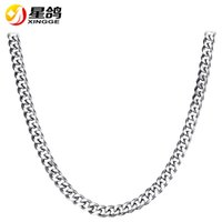 Wholesale Mens Necklace Length - 45 50 55 60 70cm length Mens Curb Cuban chain Necklace Silver Tone 9mmk width Stainless Steel Necklace Chain Hiphop Jewelry Wholesale