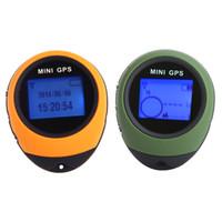 rastreador gps de viaje al por mayor-Handheld Mini GPS Compass Navegación USB Rastreador de ubicación recargable con brújula para viajes al aire libre Escalada