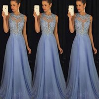 Wholesale prom dressed lace resale online - Women Formal Long Lace Dress Prom Party Wedding Gown Sequins Sleeveless Tulle Long Dress