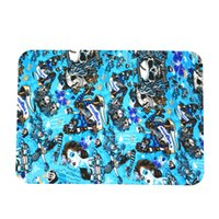 Wholesale glass artworks - silicone canvas print mat non-slip Abstract Design with skull alien artwork Washable mats for glass pipe, Dining Room Kitchen