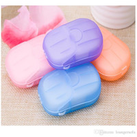 Wholesale Outdoor Travel Soap Scented Slice Sheets Paper Washing Hand Bath Clean Wash Care Camping Gadget Tool Hiking Equipment Pure Color hs bb