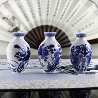 Wholesale decorative art vase online - 1 PC Fridge Magnet Souvenir Magnet on the Fridge Decorative Refrigerator Magnets Stickers Art Porcelain Vase New Hot
