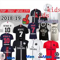 f631621f0 Top thai quality PSG soccer jersey 2019 Men Women kids maillot de foot  third MBAPPE CAVANI jerseys 18 19 Paris saint germain football shirt