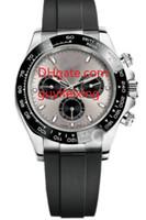 beyaz seramik otomatik erkek saatleri toptan satış-Erkekler Kauçuk Kayış Spor İzle 116519 Lüks Kol Otomatik Mekanik İzle 18 K Beyaz Altın Seramik bezel Mens Saatler Hiçbir Chronograph