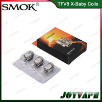 Wholesale smoktech coils - Authentic SMOK TFV8 X-Baby Coil Heads M2 Q2 X4 T6 Replacement Atomizer Coils For Smoktech TFV8 X-Baby Tank 100% Original