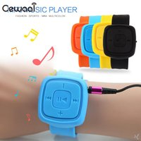 pulseiras de pulso usb venda por atacado-USB Wrist MP3 Music Player Pulseira Media Player Sports Moda Portátil