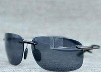 Wholesale Super Polarized Sunglasses - new style maui jim 526 sunglasses Polarized lens mj sun glasses men women sports mj526 super rimless Aviator driving with original case