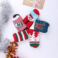 Wholesale Christmas Coral Fleece Women Socks Winter Keep Warm Christmas Tree Holiday Santa Claus Funny Socks Man Cotton Casual High New