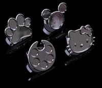 anéis de unha de metal venda por atacado-Mini Nail Art Metal Anel De Dedo Paleta Prato Acrílico UV Gel Polonês Pintura Pigmento Cor Titular Placa De Armazenamento Caso