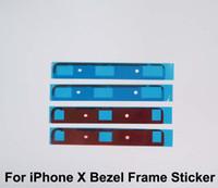 iphone bezel sticker achat en gros de-OLED Bezel Frame Sticker Colle pour iPhone X 10 Cracked LCD Écrans En Verre Rénovation De Pièces Pour La Livraison Gratuite