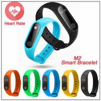Wholesale fitness items - M2 Smart Watch Fitness Tracker Heart Rate Monitor Waterproof Tracker Smart Bracelet Pedometer Call Remind Novelty Items CCA9691 50pcs