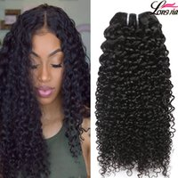 Wholesale virgin indian jerry curl hair - Peruvian Curly Human Hair Weaves Virgin Unprocessed A Brazilian Malaysian Indian Cambodian Mongolian Jerry Kinky Curls Hair Extensions