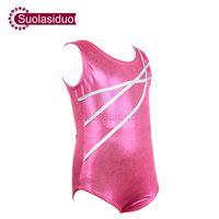 ingrosso leotard nero di lycra-Ragazze Pink Body Ballet Dance Bambini Black Spandex Lycra Body Unitard Youth Children Body ginnastica Costumi