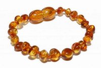 Wholesale round amber beads - baby teether 15cm 5 colours Natural Amber bracelet Supply Certificate Authenticity Genuine Baltic Amber Beads Baby bracelet Jewelry