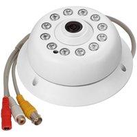 ingrosso telecamera audio mic cctv-CCTV 1200TVL HD Panoramica Telecamera di sicurezza a cupola per interni a 360 gradi con microfono audio