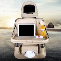 Wholesale car organizer tray for sale - Group buy Multi function Car Tray Storage Chair Back Pocket Hanging Car Seat Back Storage Tray With Dining Table