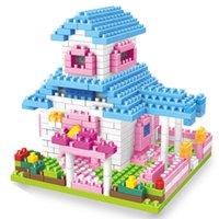 Wholesale Miniature Diy Assemble Toys - Granule Building Blocks Fairy Tale Carriage Villa Assembled Toys Children Miniature Splicing DIY Intelligence Toy Gift 10 5hy W