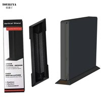 Wholesale playstation accessories for sale - hot sale Black Plastic Vertical Stand Dock Mount Supporter Secure Base Holder Cradle For Sony Playstation PS4 Slim Console Accessories