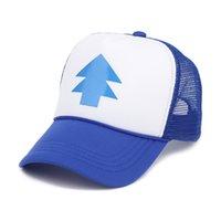 ingrosso pini blu-Berretto da esterno unisex BLUE PINE TREE Dipper Gravity Falls Cartone animato blu cappellino da golf