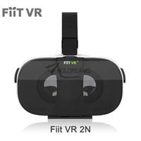 Wholesale Helmet Google - Fiit VR 2N 3D Glasses VR Box Virtual Reality Headset vrbox 120 FOV Video Google Glass Cardboard Helmet For Phone 4-6' + Remote