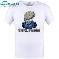 ingrosso camicia dei fidanzati-Mass Effect 2 Garrus Vakarian è il mio spazio Fidanzato Cool Design Uomo T Shirt Estate manica corta Top Hipster Divertente Tee Plus Size