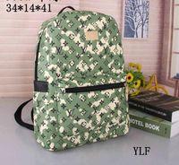 çanta için yeni stiller toptan satış-Yeni stiller Ünlü Tasarımcı Marka Adı Moda Deri Çanta Kadın Bez Omuz Çantaları Lady Deri Çanta Çanta çanta sırt çantası 34 * 14 * 41 cm