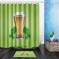 Wholesale Fabric Windows - 180*180cm Custom St.Patrick's Day Pattern Curtain Polyester Fabric Window Curtain Size (One Piece) AF-004