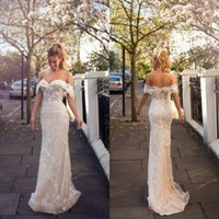 Wholesale beaded lace mermaid tiered wedding dress for sale - Group buy 2019 Mermaid Wedding Dresses Off The Shoulder Lace Beaded Appliqued Sweep Train Lace Wedding Dress Sexy Bridal Gowns