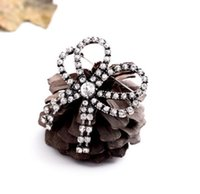 Wholesale brooch accessory dress for sale - Group buy European and American retro diamond luxury bow women s brooches bridal party dress fashion accessories