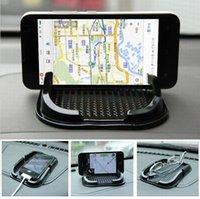 mattenhalter für telefon großhandel-Schwarz Armaturenbrett Sticky Pad Mat Anti-Rutsch-Gadget Handy GPS-Halter Innenausstattung Zubehör