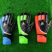 Wholesale Kid S Gloves - New Soccer Goalkeeper Gloves Finger Protection Professional Men Football Gloves Adults Kids Thicker Goalie Soccer Gloves Fast Shipping