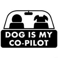 pet head accessories - 15 cm dog is my co pilot funny pet styling car sticker auto accessories CA