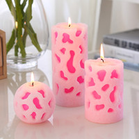 Creative Scented Birthday Weddings Candles Hollow Out Flameless Glass Holder Cake For Children Gifts Decoration