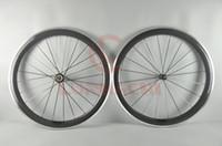 ruedas ud al por mayor-LURHACHI 50 mm de fibra de carbono + llantas de aleación 700C 3K / UD cubierta / tubular de carbono + aleación de ruedas de bicicleta de carretera 10/11 velocidad 20/24 orificios