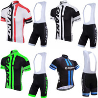 Wholesale Cycling Jersey Set Giant - GIANT team Cycling Short Sleeves jersey (bib) shorts sets Men MTB Bicycle Wears 3D Gel Pad Bib Shorts Bike Clothes Set c2411